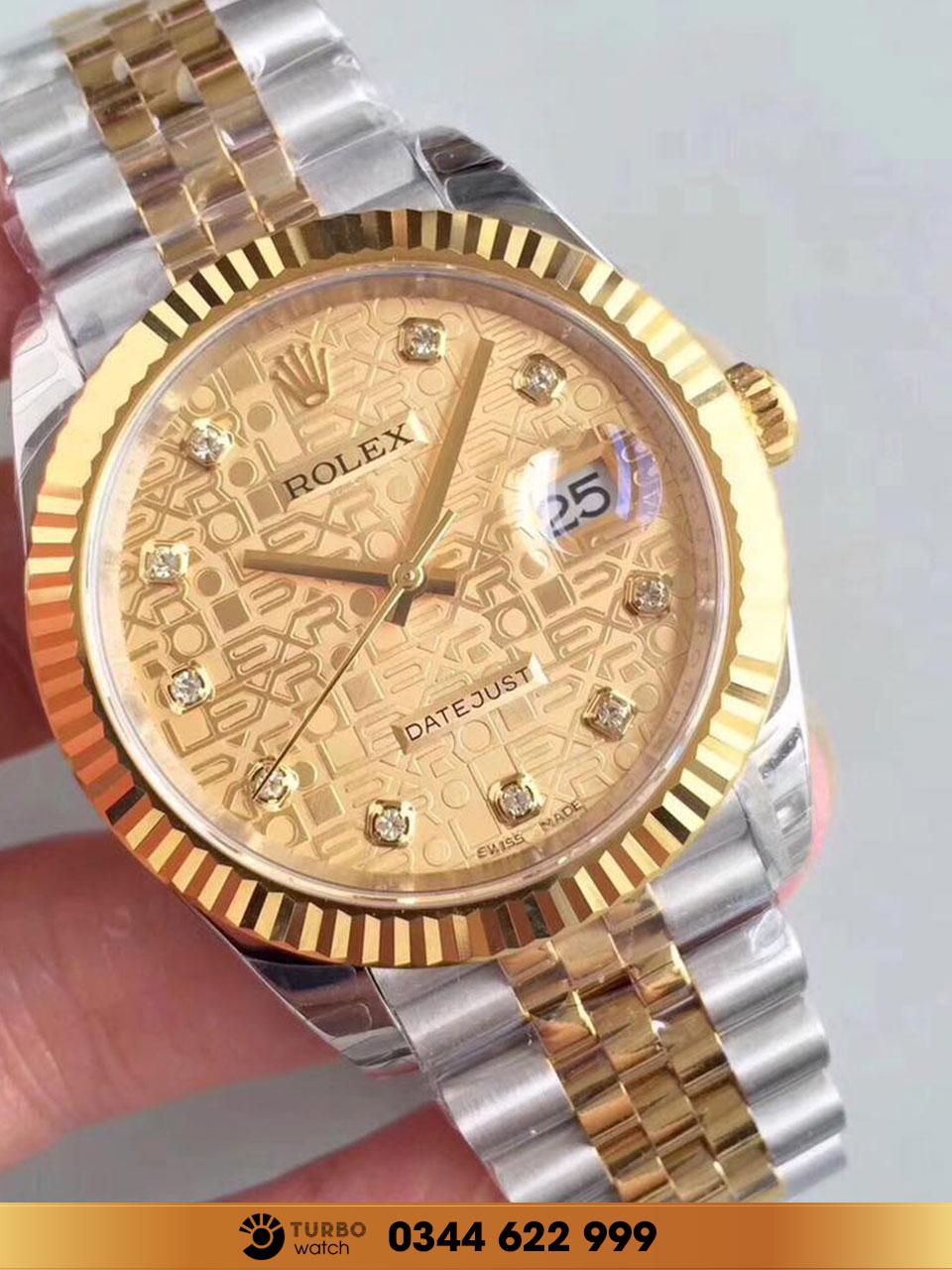 Đặc trưng của Rolex là logo được thiết kế giống một chiếc vương miện