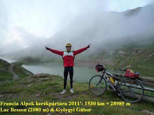 Györgyi Gábor & Francia Alpok kerékpártúra, Lac Besson (2080 m)