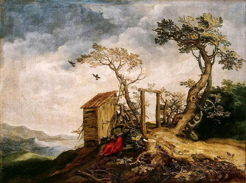 Abraham Bloemaert - Landscape with the Prophet Elijah in the Desert