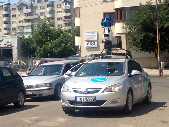 Google Street View Car in Suceava