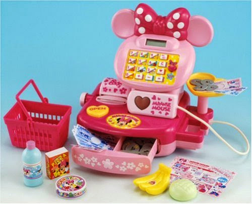Máy tính tiền siêu thị Minnie cho bé bày trò chơi mua sắm thật vui và học hỏi được kỹ năng tính toán