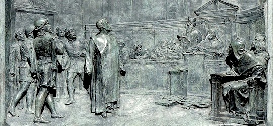 The trial of Giordano Bruno by the Roman Inquisition