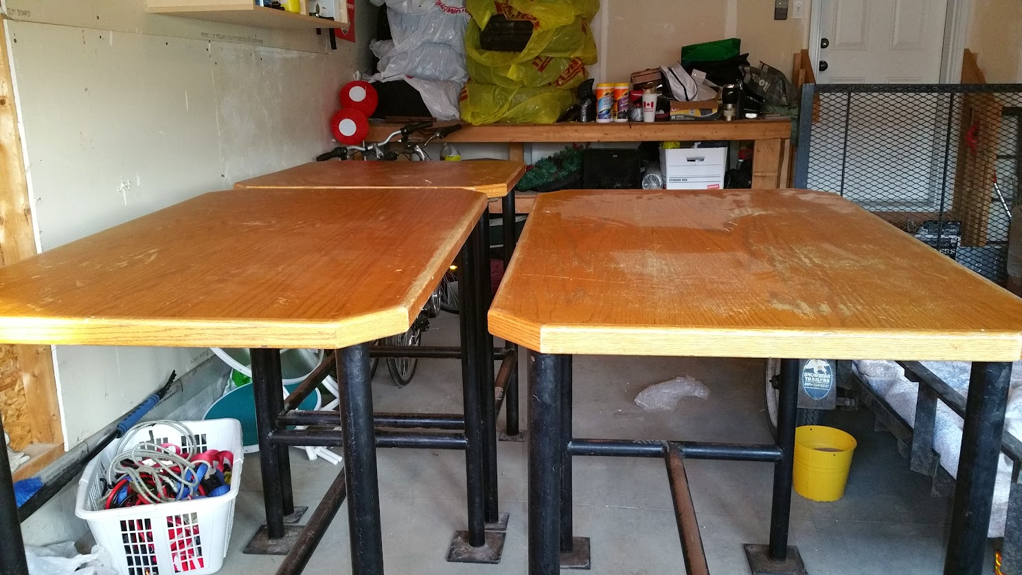 New Project Converting Bar Height Tables Into Computer Desk