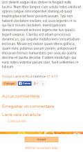 Le bouton J'aime de Facebook, complétant la barre de partage des articles dans la version mobile personnalisée.