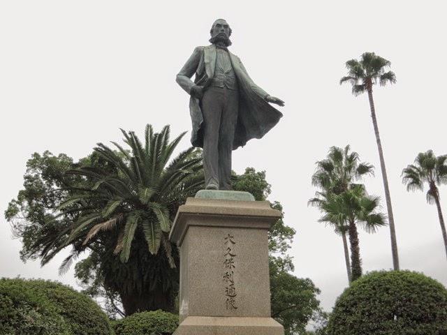 鹿児島市内にある、大久保利通の銅像。