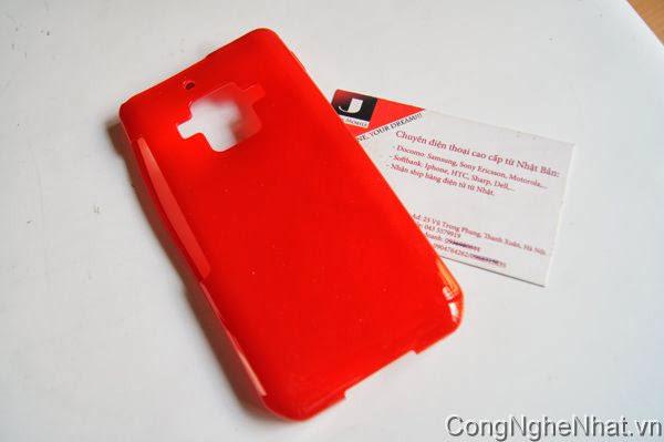Ốp lưng và dán màn SHAPR SH-02E silicon mầu đỏ