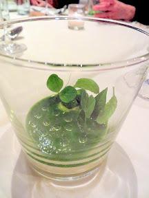 Castagna Snax: Onion Terrarium pea vines sunflower sprouts winter cress from Castagna Restaurant