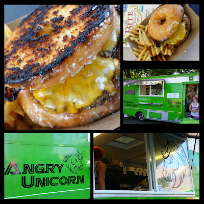 Bite of Oregon 2014, participating food cart The Angry Unicorn and their Unicorn Burger, 's Unicorn burger, made with