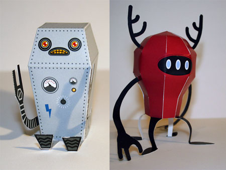 RedBaloon Robo Card Holder Paper Toy
