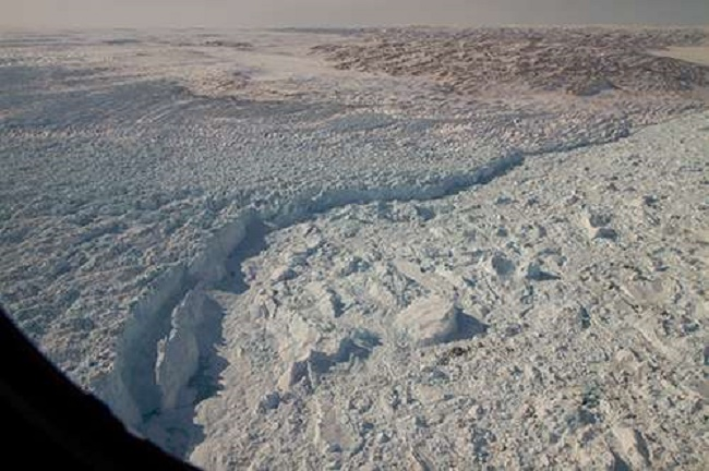 Greenland: Huge ancient river basin explains location of the world's fastest flowing glacier