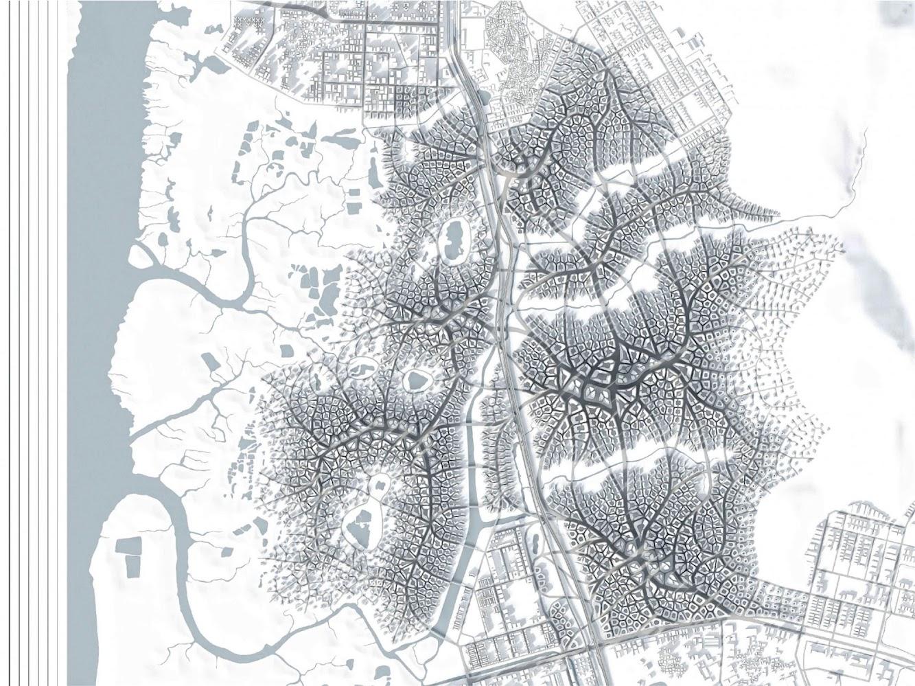 1号 Fuqian Rd, Yuexiu, Guangzhou, Quantung, Cina, 510055: Urban Field - Adaptive Urban Fabric