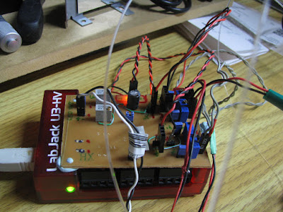 3-th version of the electronic circuit made by Jonathan, with variable gain