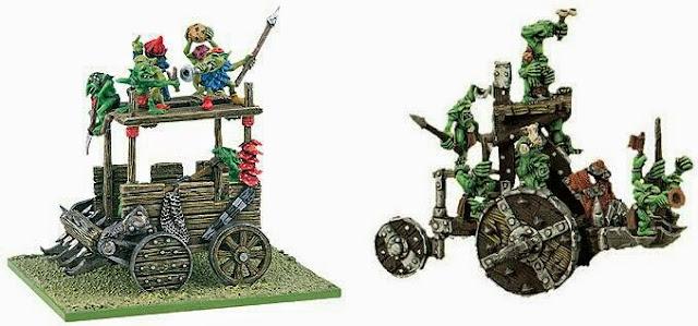 vagonetas de ataque Snotling Warhammer Fantasy