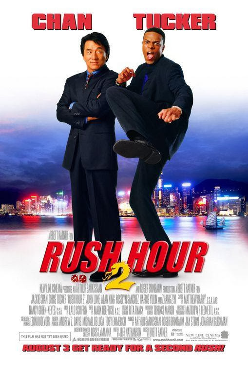 Poster Of Rush Hour 2 (2001) Full Movie Hindi Dubbed Free Download Watch Online At alldownloads4u.com