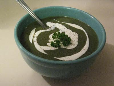 Soupe de céleri rave et épinards- recette indexée dans les Entrées