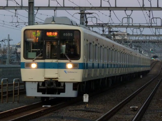 小田急電鉄 準急 相模大野行き3 8000形(東京電力計画停電に伴う運行)