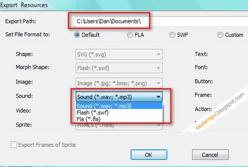 Cách lấy file nhạc, hình ảnh từ file Flash (swf) bất kỳ