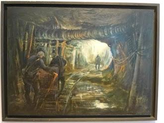 Bergarbeiter im Schacht.