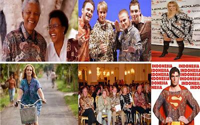 Mandela, Julia Roberts dan Superman ber Batik Ria