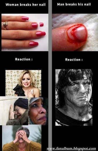 Reaction of a man and a women>>