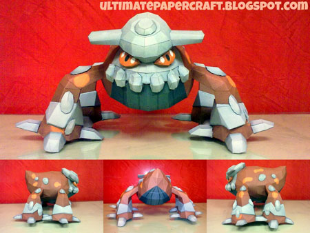 Pokemon Heatran Papercraft