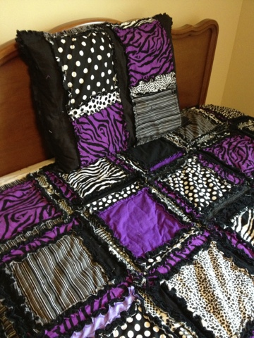 Purple Black Zebra Quilt A Vision To Remember All Things