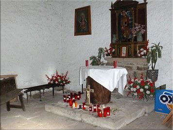 Altar de la ermita de Santa Marina