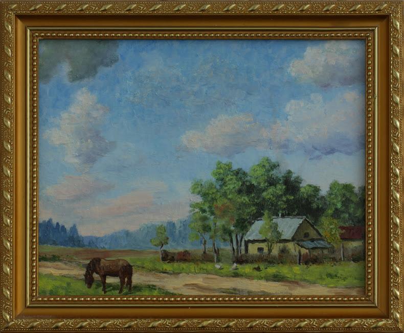 Валерий Каренгин, живопись, холст, масло, лето,