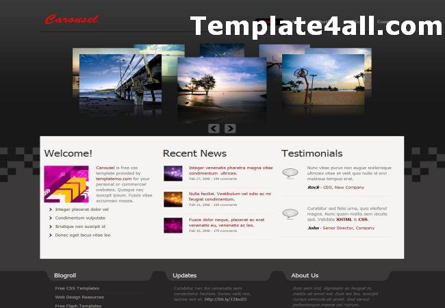 Portfolio Jquery Black CSS Website Template