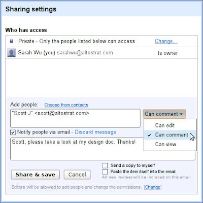 Google Docs darf Kommentieren
