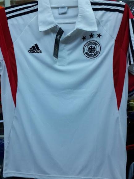 Jual Kaos Polo Jerman Putih 2014 Terbaru