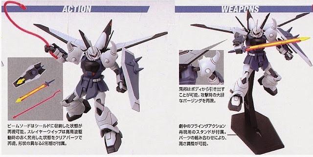 Kết hợp các loại vũ khí cho Gouf Ignited Yzak Jule Custom HG Gundam Seed tỷ lệ 1/144
