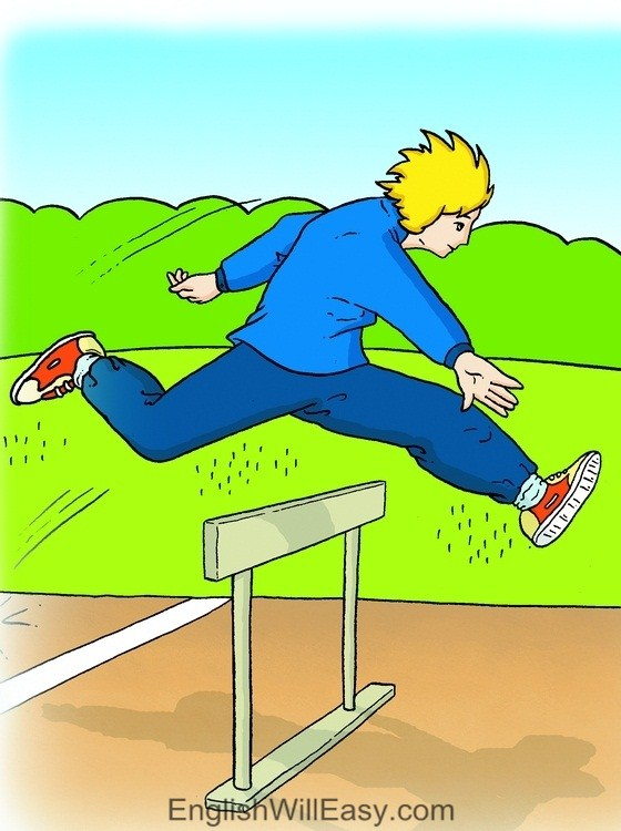 Picture Card For Kids- Verbs- hurdle