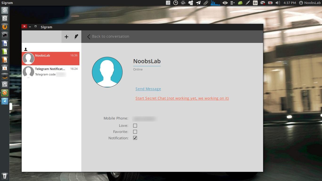 Sigram: A Telegram Client for Debain/Ubuntu/Linux Mint - NoobsLab