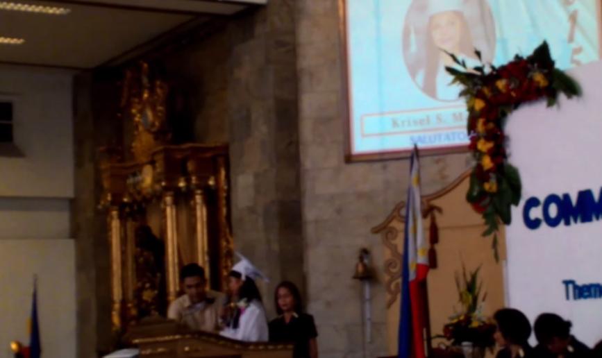 Video Salutatorian Krisel Mallari Graduation Speech