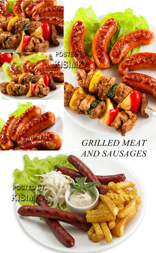 Stock Photo: Grilled meat and sauseges 2