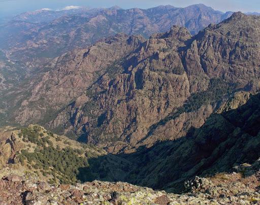 Les vallées vers le Fangu avec Tana di l'Orsu et Campu Razzinu