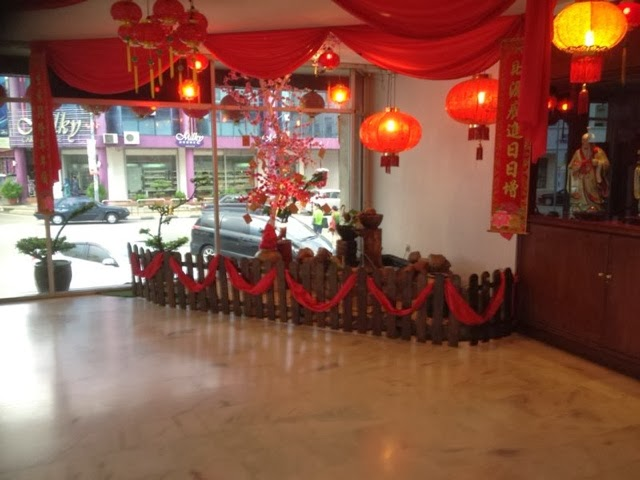 Travel kluang relaxing 2d1n from the bustling city the hotel lobby decorations for chinese new year the milky cake store from the back view serve very nice charcoal bread which is a black color junglespirit Choice Image