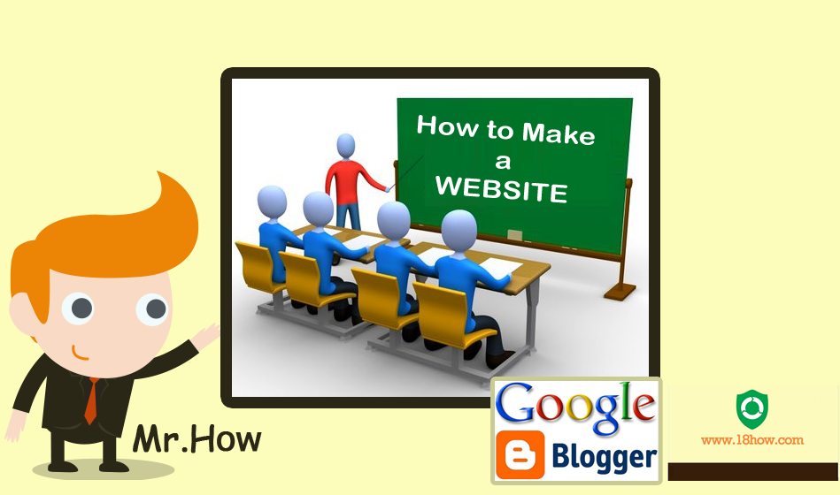 How to make your own website using blogspot blogger
