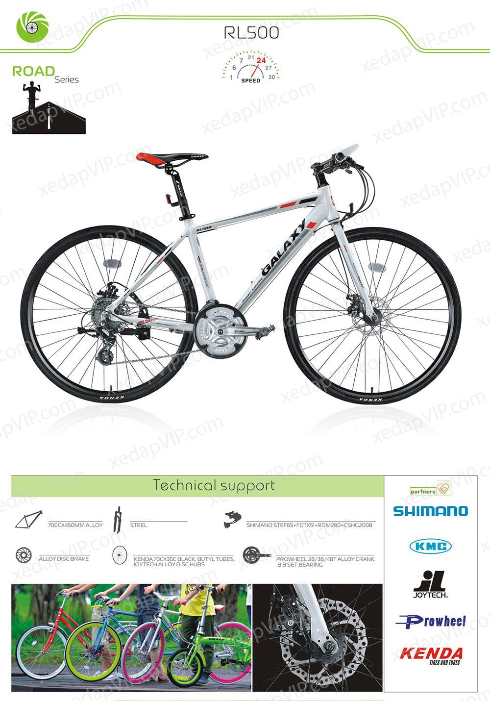 xe dap GALAXY RL500, xe dap the thao, xe dap trinx, xe đạp thể thao chính hãng, xe dap asama, rl500