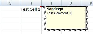 Comment-Excel