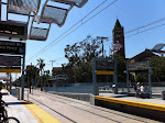 The Expo Park/USC station on the Expo Line LRT - so exciting that LA is getting trains to the West Side