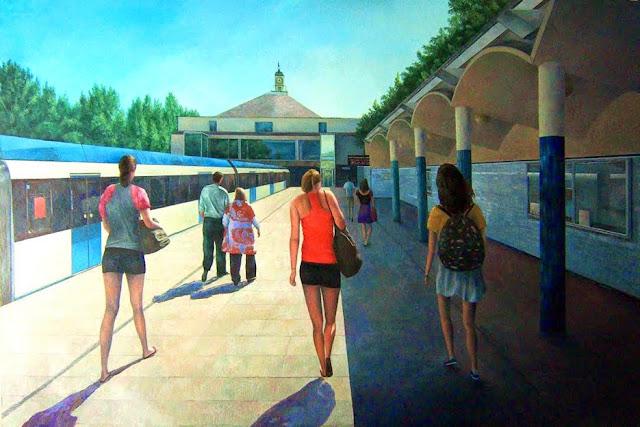 La estación de Lago,pintura de Consuelo Hernández