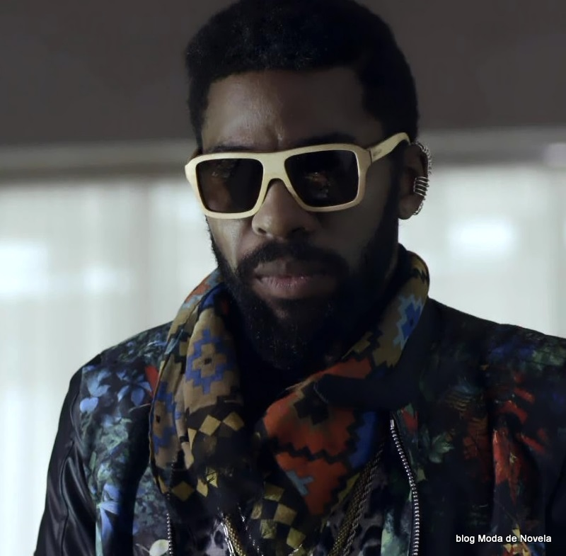 moda da novela Geração Brasil - óculos escuro do Brian dia 7 de junho