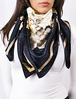 Square scarves in silk