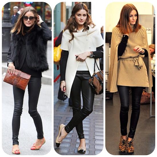 Olivia Palermo Style Fall Fashion Tips Leather Pants