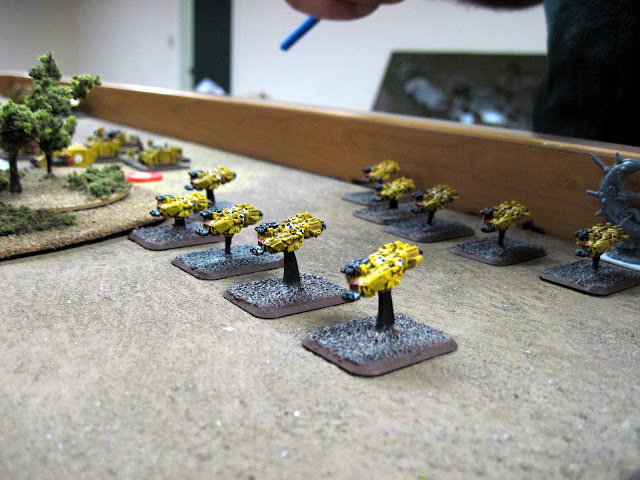 Land Speeders on the base line