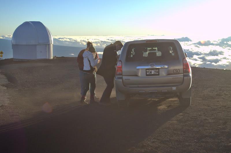Car on top of Mauna Kea