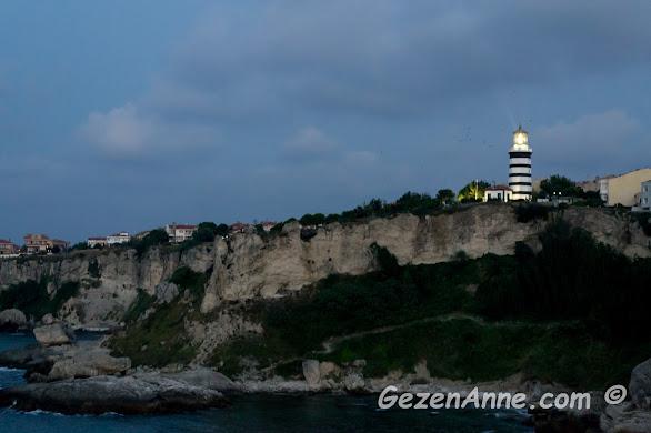 geceyi aydınlatan Şile feneri, İstanbul