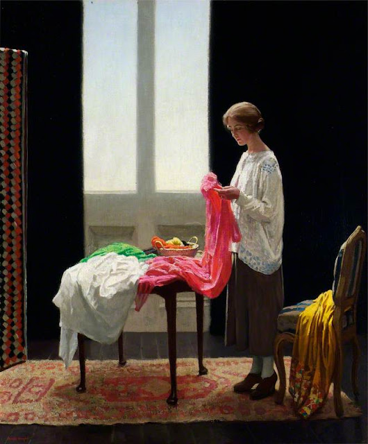 Harold Knight - The Embroideress